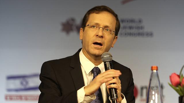 """יו""""ר האופוזיציה יצחק הרצוג (צילום: AFP) (צילום: AFP)"""