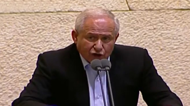 Bill's main sponsor MK Dichter said the bill did not refer to individuals as such but rather the basic character of the state (Photo: Knesset Channel)
