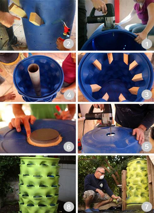 תהליך הכנת מגדל הירק בסדנת החביתותים (צילום: עמית שעל)