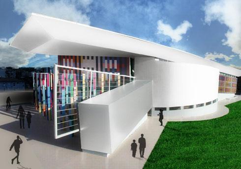 הדמיית המוזיאון, כפי שאמור להיראות עם פתיחתו באוקטובר (הדמיות: נופר אדריכלים)