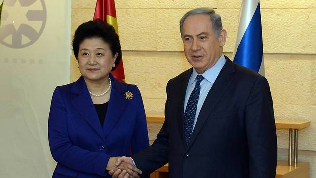 Netanyahu and Yandong, Photo: GPO