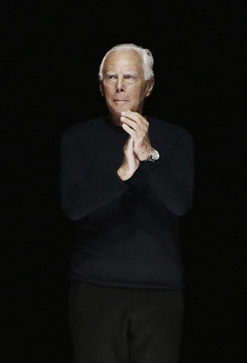 הכריז כי בית האופנה שלו יפסיק את השימוש בפרווה בעיצוביו. ג'ורג'יו ארמאני (צילום: Gettyimages)
