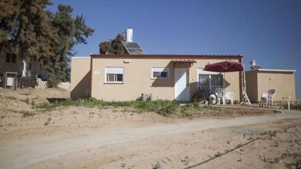 מבנה מגורים בעוטף עזה שמוצע לציבור בסבסוד. יש גם קרוואנים ()