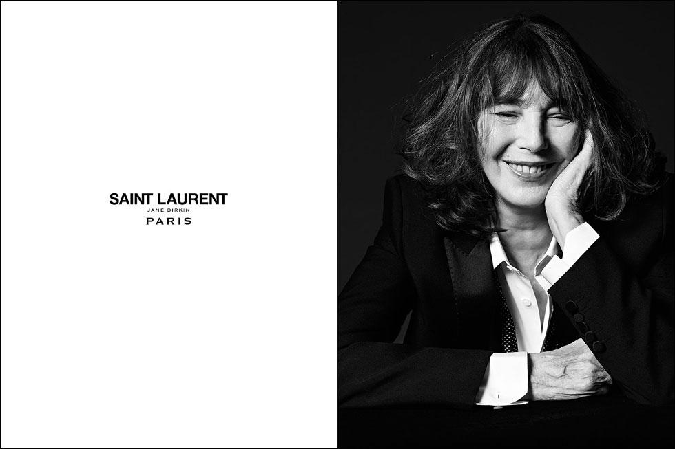 לכל מי שהתגעגע. ג'יין בירקין בקמפיין החדש של סאן לורן