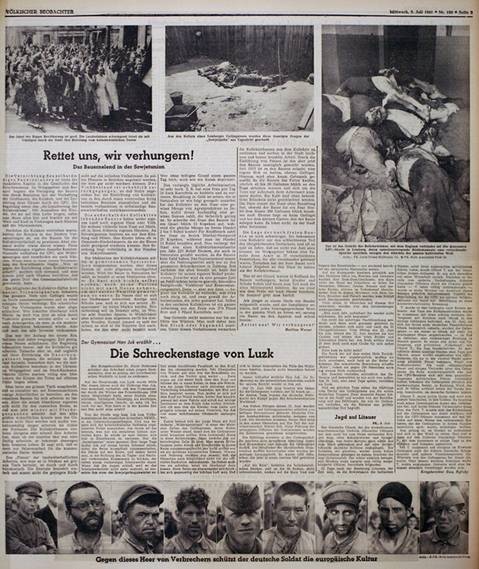 Nazi party newspaper with AP photographer Franz Roth's photographs (Photo: AP)