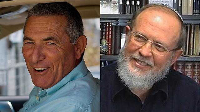 הרב אלי סדן (מימין) ואלוף (מיל') דורון אלמוג (צילום: אורות, יובל חן) (צילום: אורות, יובל חן)