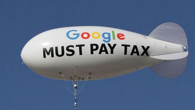 פעולת מחאה בתל אביב בדרישה לחייב את גוגל לשלם מס - ארכיון (צילום: עידו ארז) (צילום: עידו ארז)