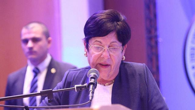 נשיאת העליון מרים נאור בפתח הכנס באילת (צילום: מוטי קמחי) (צילום: מוטי קמחי)