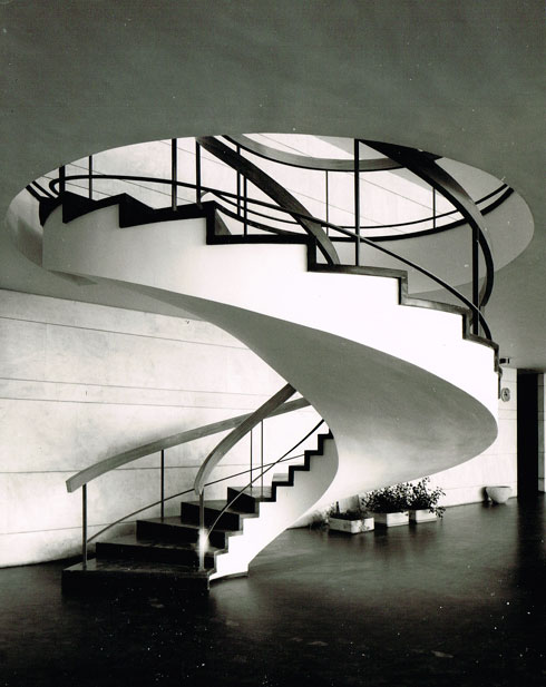 הספרייה הלאומית בגבעת רם. נחנכה ב-1960, תינטש ב-2020 (באדיבות אוסף זיוה ארמוני, ארכיון אדריכלות ישראל)