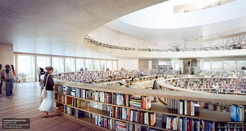 אור השמש לא יפגע כהוא זה במסמכים הנדירים ששמורים בספרייה, מדגיש הרצוג (צילום: משרד הרצוג ודה מרון)