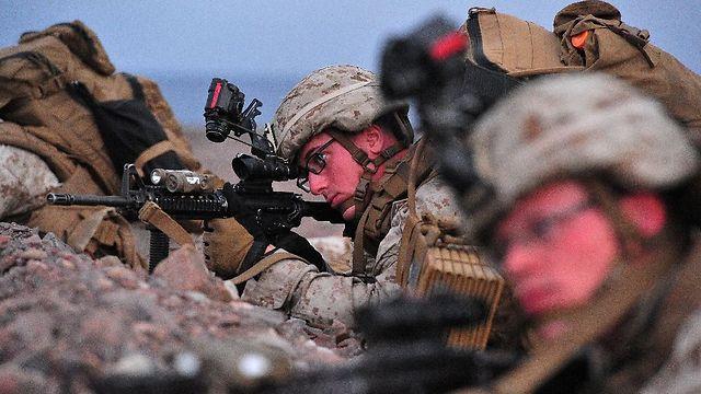 חיילי מארינס באימון בג'יבוטי (צילום: AFP) (צילום: AFP)