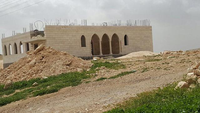 הבנייה שתועדה על ידי אנשי רגבים (צילום: תנועת רגבים) (צילום: תנועת רגבים)