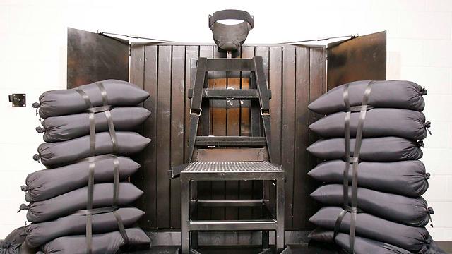 """תא הוצאה להורג בכיתת יורים. יוטה, ארה""""ב (צילום: רויטרס) (צילום: רויטרס)"""
