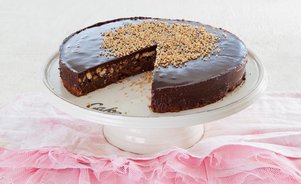 עוגת שוקולד ואגוזים כשרה לפסח (צילום: דני לרנר, סגנון:  פסי ברניצקי)