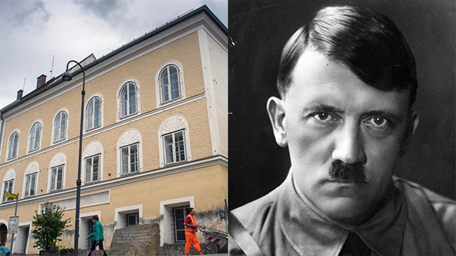 Hitler's birthplace in Braunau (Photos: Gettyimages, AFP)