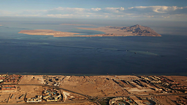 Tiran Island and Sanafir Island in the Straits of Tiran (Photo:AFP)