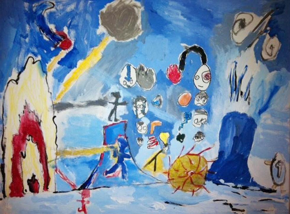 ציור יצירתי בגיל 6.5