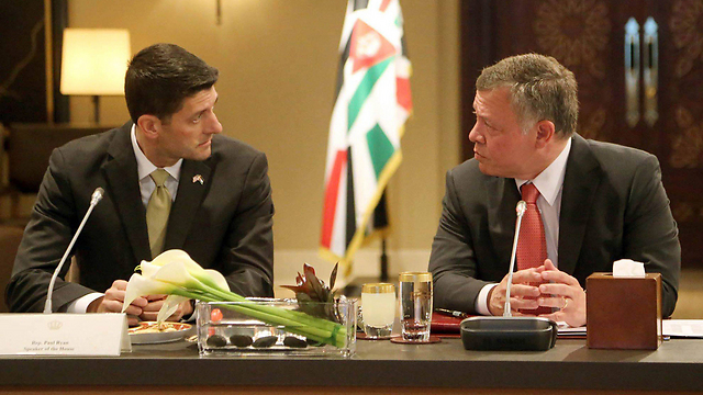US House Speaker Paul Ryan (L) meeting with Abdullah II (Archive photo: EPA)