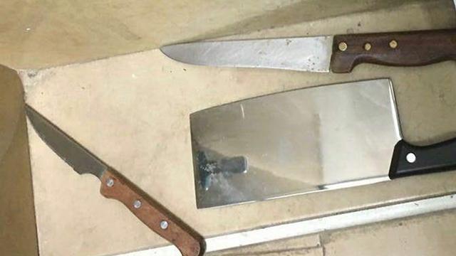 סכינים שנתפסו ברשות הילדים בירושלים  ()