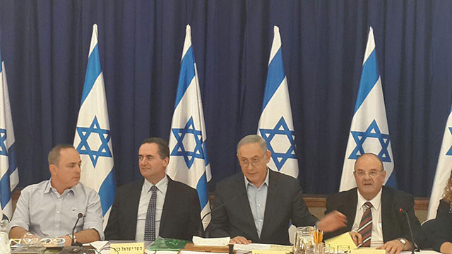 Government meeting in the Golan Heights (Photo: Ahiya Raved)