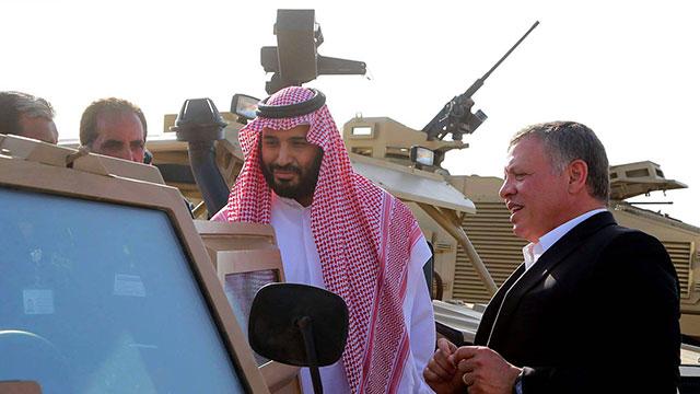 עם מלך ירדן עבדאללה (צילופ: EPA) (צילופ: EPA)