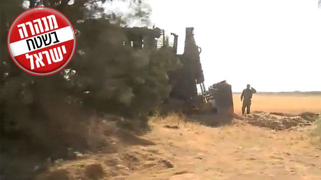 המנהרה שנחשפה בגבול הרצועה (צילום: רועי עידן, בראל אפרים) (צילום: רועי עידן, בראל אפרים)