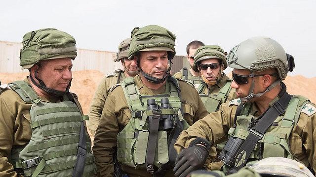 IDF Chief of Staff Gadi Eisenkot at the tunnel's site (Left). (Photo: IDF Spokesperson) (Photo: IDF Spokesperson)