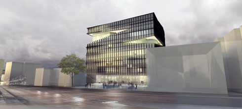 בניין עיריית גבעתיים. ארז אלה זכה לאחרונה, האם הבניין באמת ייבנה על ידי ארז אלה? ימים יגידו (הדמיה: HQ Architects)