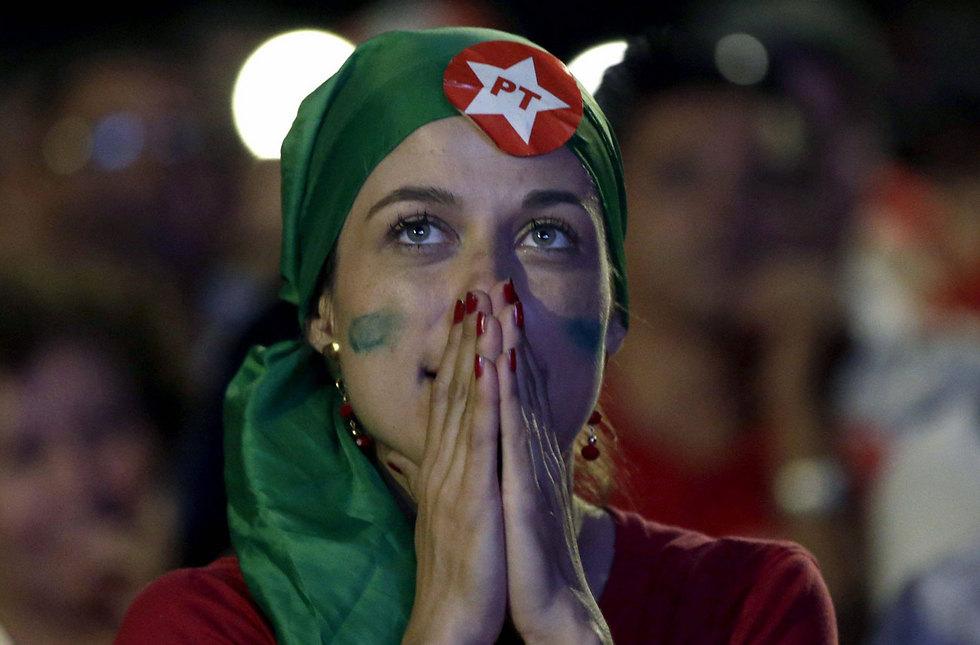 תומכת של הנשיאה המודחת בברזיליה (צילום: EPA) (צילום: EPA)