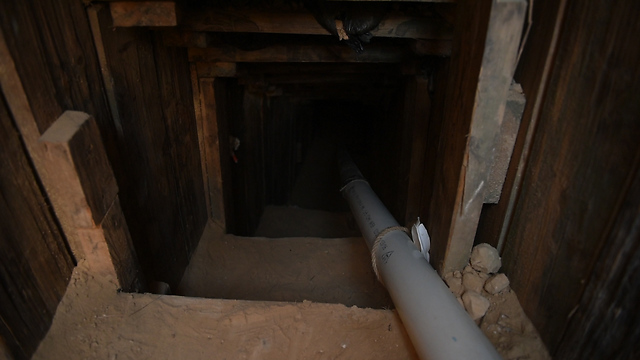 The new tunnel discovered two weeks ago (Photo: IDF Spokesman's Unit)