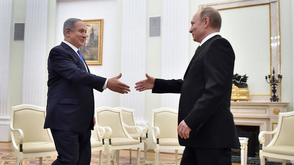 Netanyahu and Putin meet in Moscow (Photo: AFP)