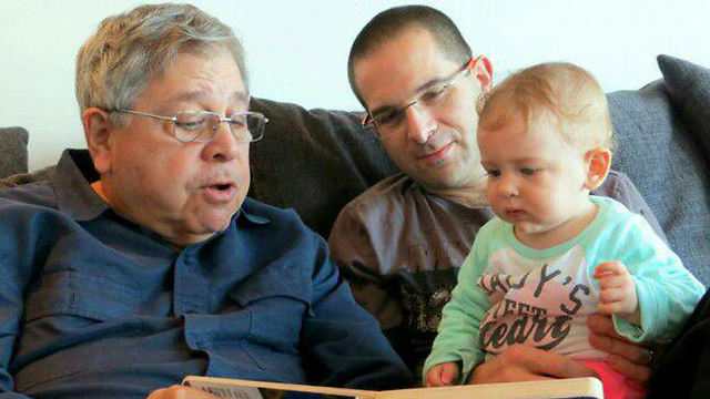 Micah Avni and his father, the late Richard Lakin