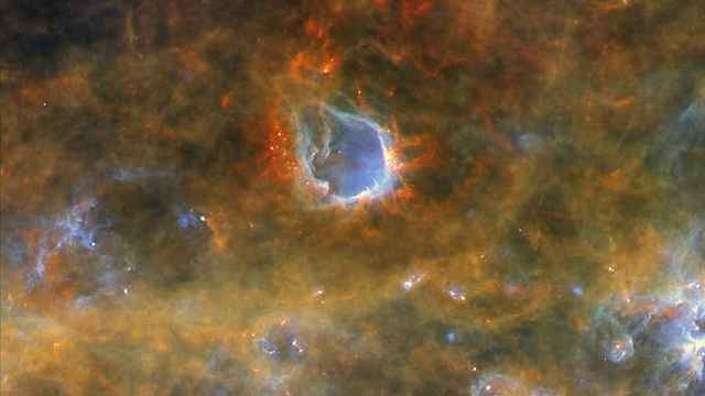 שביל החלב (צילום:  ESA/Herschel/PACS, SPIRE/Hi-GAL Project) (צילום:  ESA/Herschel/PACS, SPIRE/Hi-GAL Project)