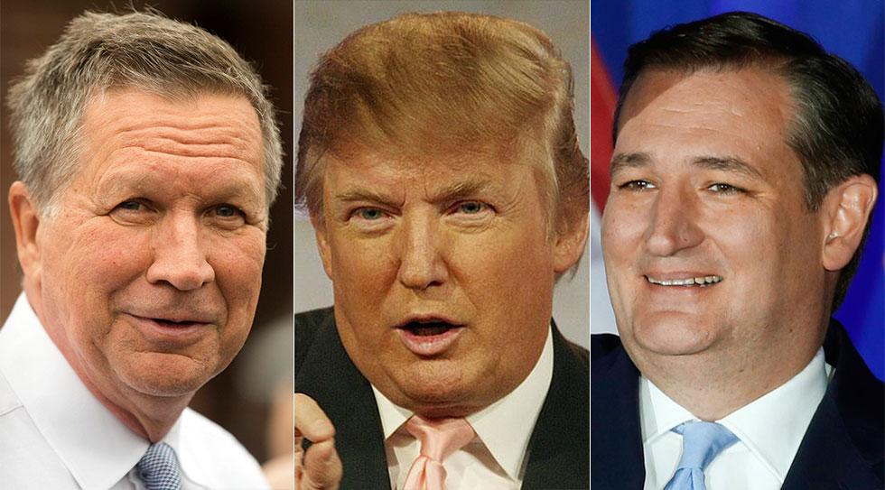 קרוז, טראמפ וקייסיק (צילום: MCT, AP, ,AFP) (צילום: MCT, AP, ,AFP)