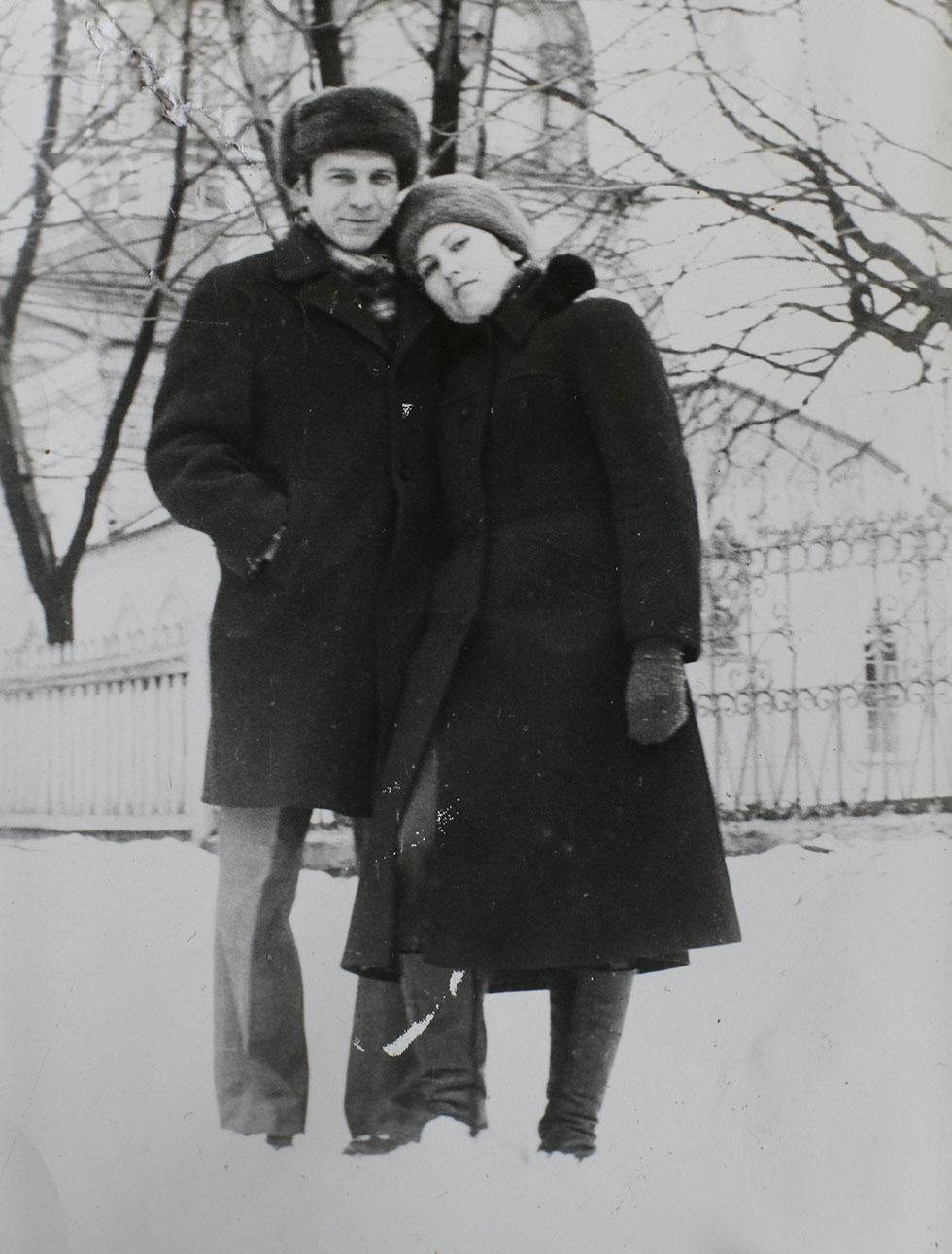 פרבוזצ'נקו עם בעלה, שמת זמן קצר לאחר האסון (צילום: רויטרס) (צילום: רויטרס)