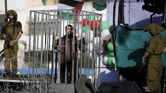 Actor portraying Palestinian detainee (Photo: EPA)