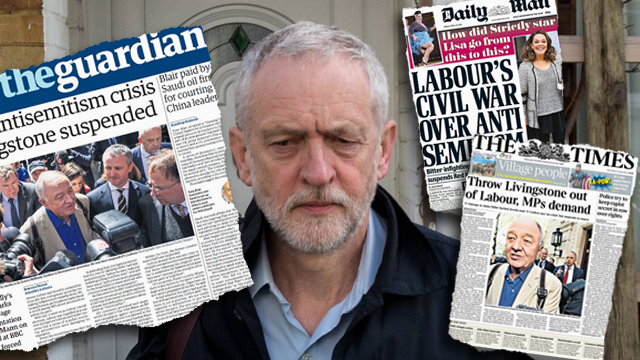 Labor Chairman Jeremy Corbyn, often embroiled in anti-Semitic scandals