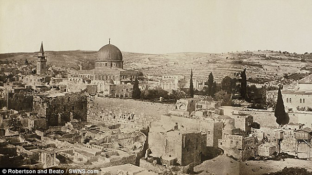 Western Wall and Dome of the Rock (Photo: Bonfils/SWNS.com)