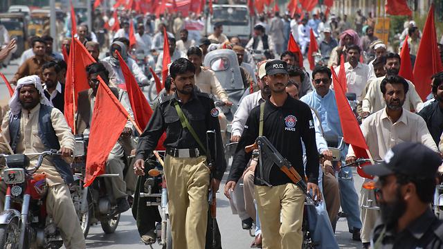חגיגות אחד במאי בקטה, פקיסטן (צילום: AFP) (צילום: AFP)