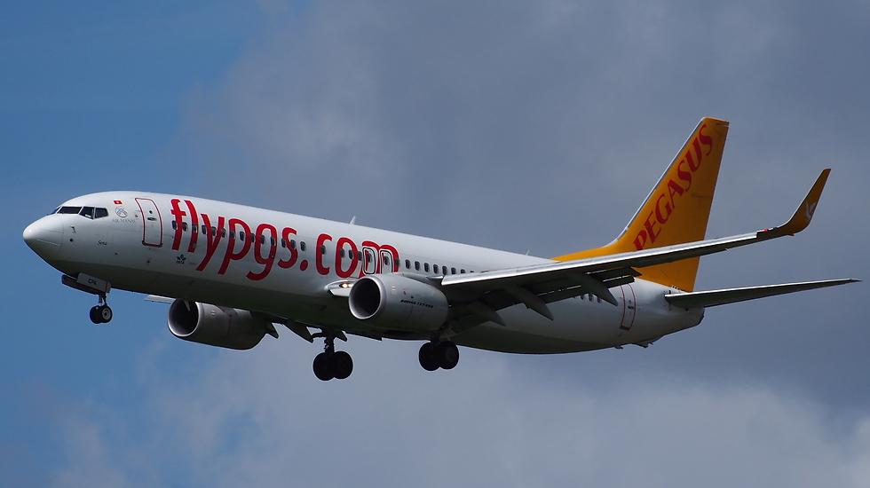 מטוס חברת פגסוס (צילום: פגסוס) (צילום: פגסוס)