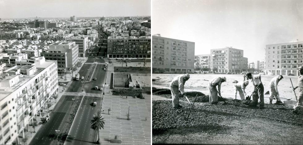קשה לדמיין את הכיכר המרכזית של ישראל בלי אנדרטה. כך זה נראה בשנות ה-60 (צילום: וילי פולנדר)