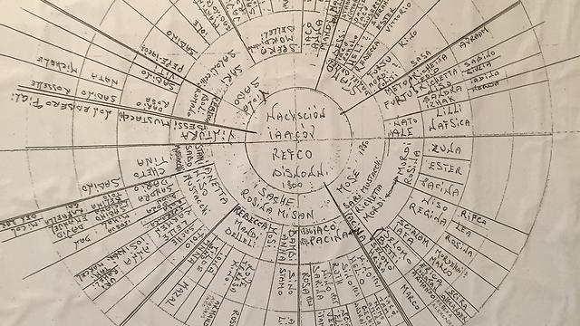 A Corfu family tree (photo from Nata Gattegno's private collection)