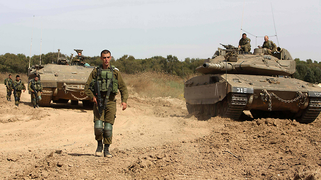 IDF forces operating along the Gaza border (Photo: AFP)