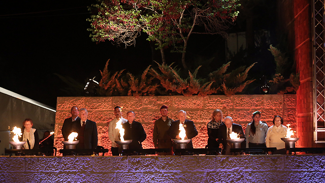 Holocaust Remembrance Day ceremony at Yad Vashem (File photo: Gil Yohanan)