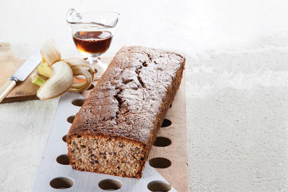 עוגת בננה, מייפל ושוקולד (צילום: דני לרנר, סגנון: פסי ברניצקי)
