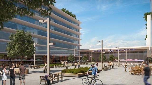 מרכז מסחרי בתחנת רכבת רחובות (קרדיט: פלג אדריכלים) (באדיבות רכבת ישראל) (באדיבות רכבת ישראל)