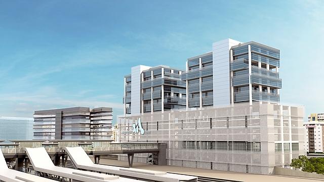 מרכז מסחרי בתחנת רכבת לוד (קרדיט: פלג אדריכלים) (באדיבות רכבת ישראל) (באדיבות רכבת ישראל)