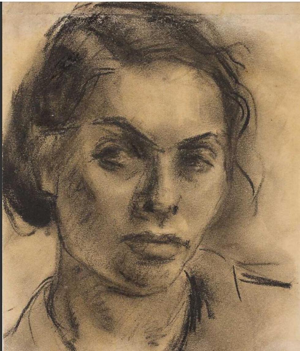 """""""בפורטרט העצמי שציירה יש משהו כאוב, מאוכזב, אפילו מיואש, וזה מה שהיא בחרה להכניס אל תוך הארכיון, זו האמירה שלה על עצמה"""" (באדיבות """"בית לוחמי הגטאות"""") (באדיבות"""