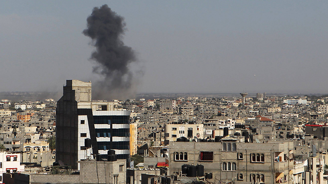 IAF attack on Thursday in Gaza (Photo: AFP) (Photo: AFP)