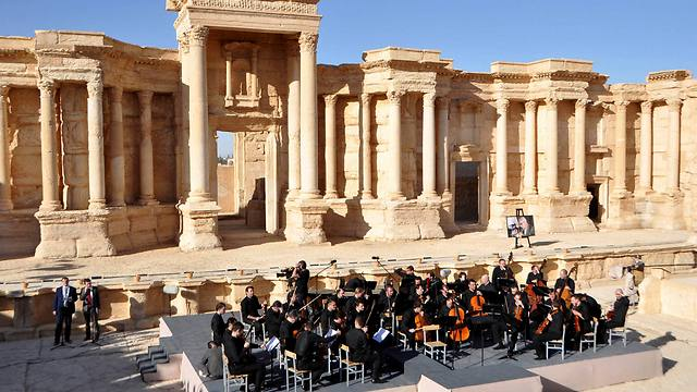 Russian concert at Palmyra amphitheater (Photo: Reuters)